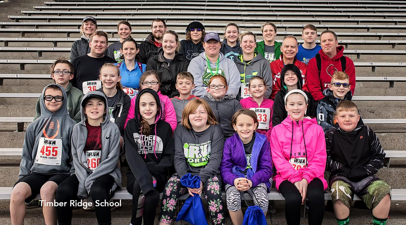 Timber Ridge School iRun participants.