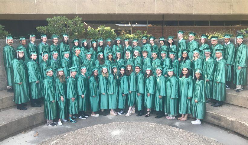 Class of 2019 in caps and gowns
