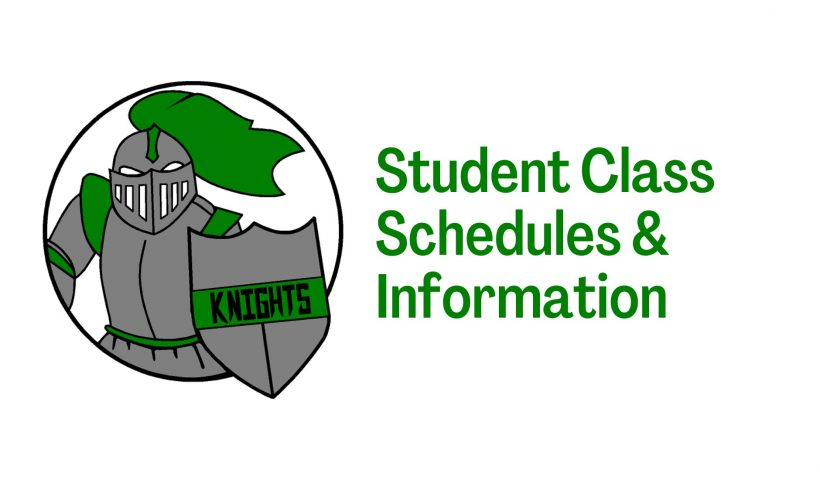 student class schedules and information