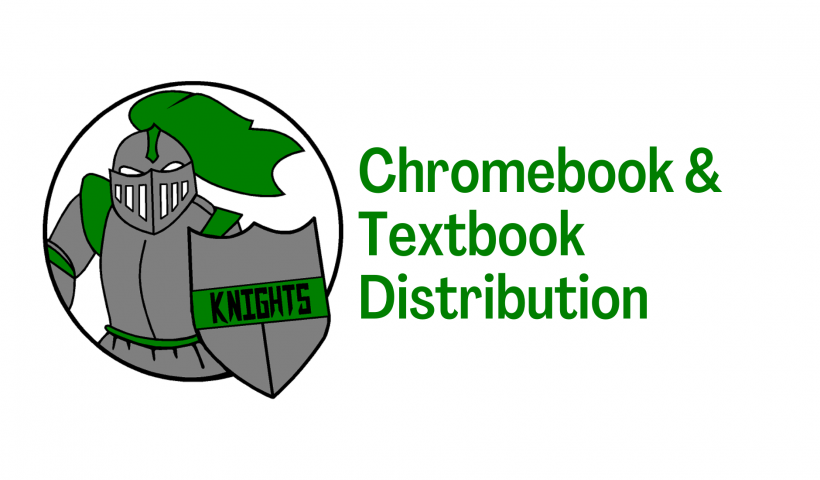 chromebook and textbook distribution