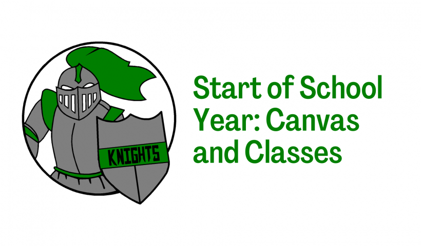 Start of School Year Canvas and Classes